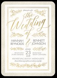 wedding invitations shutterfly gilded perfection 5x7 wedding invitations shutterfly