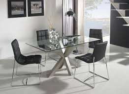 Contemporary Glass And White Or Steel Paula Dining Table - Contemporary glass dining room furniture