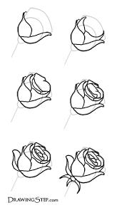 drawing of a rose homeschool art pinterest rose drawings