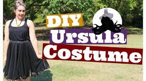 Ursula Costume Diy Ursula Halloween Costume Youtube