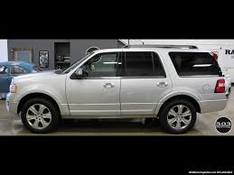2017 ford expedition platinum 4x4 silver black w only 7k miles