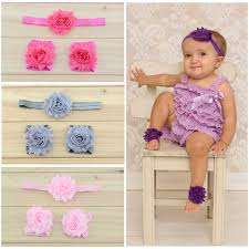 baby hairbands retail newborn baby headband shabby chic flowers baby barefoot