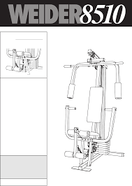 weider home gym 8510 user guide manualsonline com