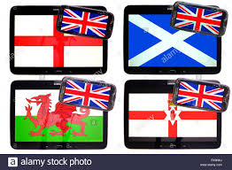 flags of england scotland ireland and wales flying seaton carew