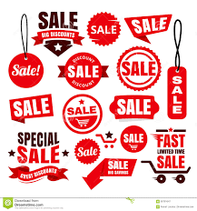 ribbons for sale discount sale tags badges and ribbons stock vector image
