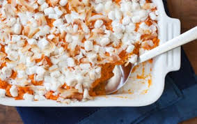 Sweet Potato Recipe For Thanksgiving With Marshmallows Coconut Marshmallow Spiced Sweet Potatoes Whole Foods Market