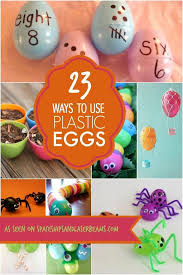 Plastic Easter Egg Yard Decorations by Best 25 Plastic Eggs Ideas On Pinterest Plastic Egg Crafts For