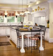 Traditional Kitchen Design Ideas Decor Barstools And White Kitchen Cabinets With Breakfast Nook