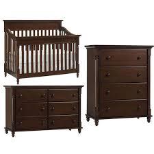 europa baby cameron convertible crib furniture set chocolate