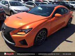 new 2015 orange solar flare lexus rc f performance package review