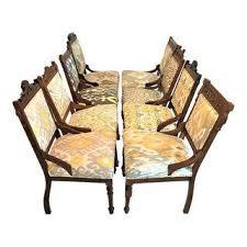 Ikat Armchair Vintage U0026 Used Yellow Side Chairs Chairish