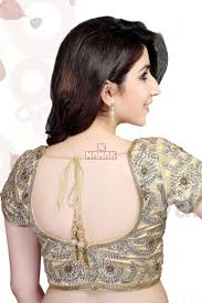 golden blouse golden color stitched readymade partywear blouse