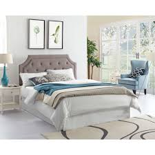 Grey Tufted Headboard Crown Bedroom Groups Grey Tufted Headboard With