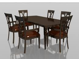 free dining table near me 6 seater wood dining set 3d model 3dsmax files free download