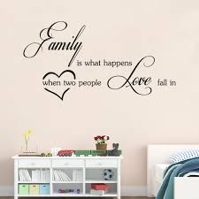 Home Decor Quotes by Family Love Wall Stickers English Wall Quotes Vinyl Home Decor