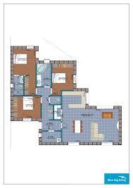 three bedroom villa blue sky living