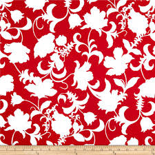 black and white gramercy floral red white accent colors group
