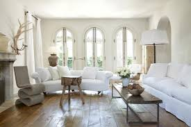 white rustic living room decorating clear