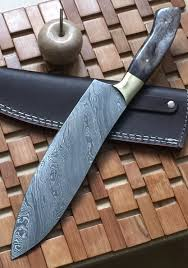 rk 723 style damascus steel chef knife brass bolsters colored rk 723 style damascus steel chef knife brass bolsters colored bone handle