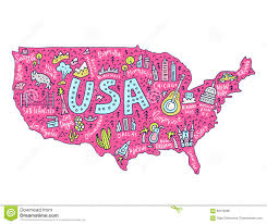 United States Map Clip Art by Cartoon Map Of Usa Stock Vector Image 89158396