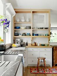 Small Kitchen Interiors Unfinished Oak Kitchen Cabinets Painted With White Wall Interior