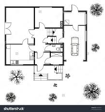 Home Decorators Coupon Code Free Shipping Architectural Background Vector Blueprint With Trees And Car