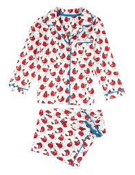 pure cotton robin print pyjamas 1 8 years m u0026s