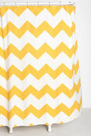 zigzag shower curtain in black and white for guest bathroom
