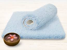 Blue Bath Mat Fluffy Bathroom Rugs Sky Blue 6 Sizes Available