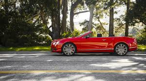bentley red 2016 2014 bentley continental gt speed convertible st james red side