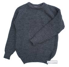 fisherman u0027s rib sweater for men charcoal grey pure wool the