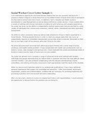 Msw Sample Resume Cover Letter Sample Social Work Gallery Cover Letter Ideas