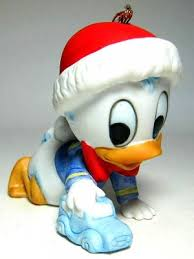 baby donald duck with car ornament from our