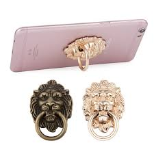 metal lion ring holder images Metal ring buckle anti skid retro lion head all metal finger jpg