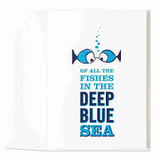 fish in the sea letterpress by marcel schurman cards papyrus