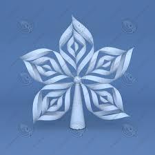 model origami snowflake tree topper