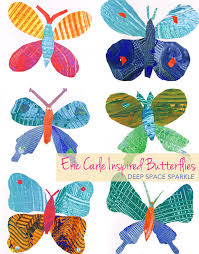 Butterfly Crafts For Kids To Make - eric carle inspired butterflies eric carle template and butterfly