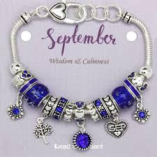 bracelet murano images Sapphire september birthstone charm bracelet murano beads pandora jpg