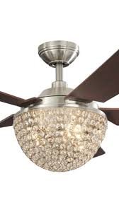 cool looking ceiling fans parklake 52 in brushed nickel downrod mount indoor ceiling fan