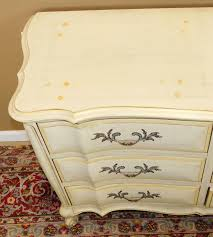 Used White French Provincial Bedroom Furniture White Fine Furniture Co Painted French Provincial 9 Drawer Bedroom