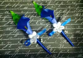 royal blue boutonniere real touch royal blue calla boutonniere set royal blue