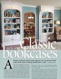 Classic Bookshelves - classic arch top bookcases plans u2022 woodarchivist