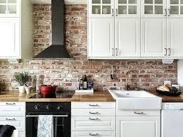 Kitchen Backsplash Brick Brick Backsplash Kitchen Upsite Me
