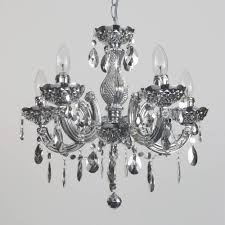 Marie Therese Crystal Chandelier Silver Chandelier Marie Therese Chandelier 5 Light Dual Mount