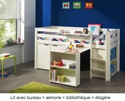 lit enfant combiné bureau lit enfant combiné bureau et rangement theo en pin massif so nuit
