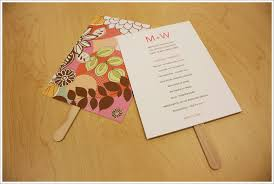 wedding programs diy particular put a bird on it wedding program fans to keep guests