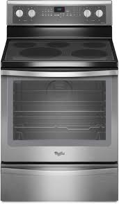 Whirlpool Cooktop Cleaner Whirlpool Wfe715h0es 30 Inch Freestanding Electric Range With 5