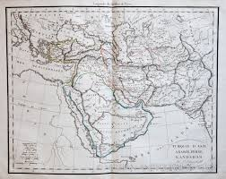Persia Map Map Of Arabia Persia And Kandahar 1813