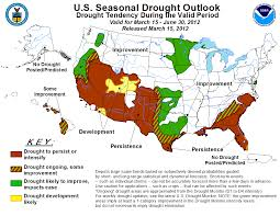 Us Drought Map Noaa Risk Of Major Flooding In Spring Is Low For The First Time