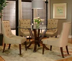 round dining table with leather chairs with design photo 2731 zenboa